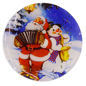 Deko-Weihnachtsteller - Glas - Ø 25 cm