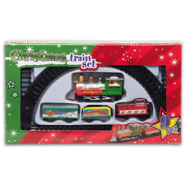 9-teiliges Weihnachtszug-Set - mit Güterwagen