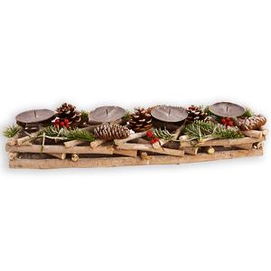 Kerzenhalter Äste - Holz - vier Halter