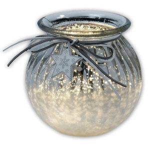 Windlicht - silber - Glas - 14 cm