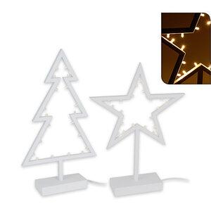 LED Lichtobjekt - Kunststoff - sortierte Weihnachtsformen