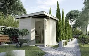 Weka Gartenhaus Nantje Gr.1 ,  Wandstärke 21 mm, 209 x 205cm