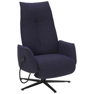 Ambiente RELAXSESSEL Struktur Relaxfunktion, Kopfteilverstellung, Fußteilverstellung, Blau