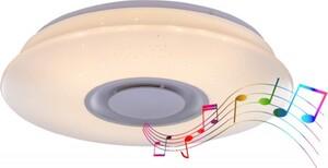 Globo LED Deckenleuchte ,  weiß, sparcle Dekor, Lautsprecher