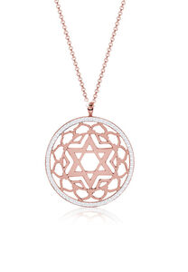 Nenalina Halskette Sahasrara Chakra Swarovski® Kristalle 925er Silber, Rosegold, 80 cm, rosegold, cm