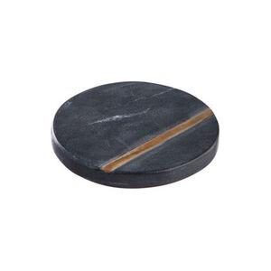 BUTLERS MARBLE Untersetzer mit Gold Ø10cm, Schwarz, schwarz, Länge 10 cm. Breite Höhe 1 cm