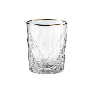 BUTLERS ATLANTIS Wasserglas mit Goldrand, Gold, gold, Ø 8.2 cm. Höhe 10 Füllmenge: 345 ml