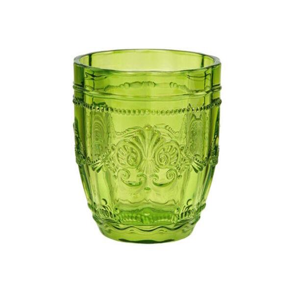 BUTLERS VICTORIAN Trinkglas 250 ml, Grün, grün, Ø 8.3 cm. Höhe 9.9 Füllmenge: 250ml