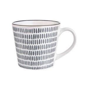 BUTLERS SHINTO Tasse Striche 380ml, schwarz-weiß, Länge 12.5 x Breite 9.8 Höhe 8.5 cm. Füllmenge: 380 ml