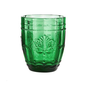 BUTLERS VICTORIAN Trinkglas 250 ml, Dunkelgrün, dunkelgruen, Ø 8.3 cm. Höhe 9.9 Füllmenge: 250ml