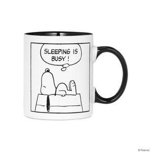 BUTLERS PEANUTS Tasse Comic Sleeping, schwarz-weiss, Höhe 9.5 cm. Ø 7.8 cm
