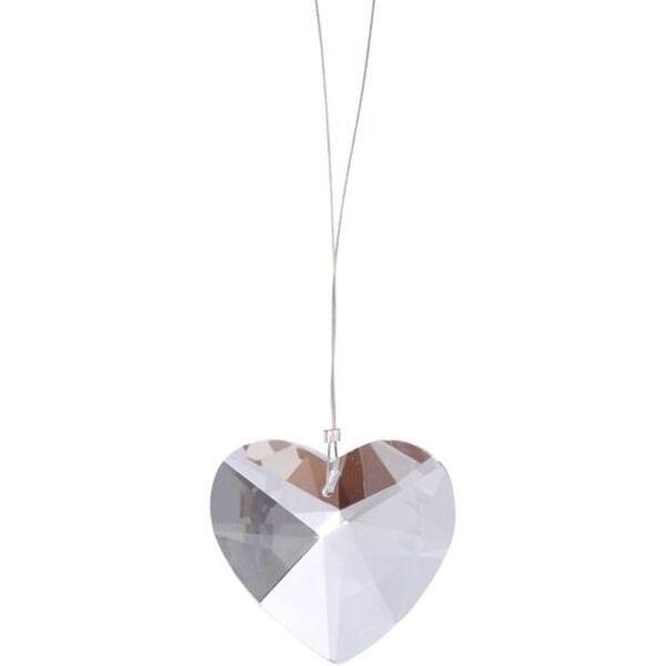 BUTLERS MONBIJOU Anhänger Kristall-Herz, transparent, Breite 3.8 x Tiefe 1.5 Höhe 4 cm
