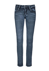 Million X Mädchen Skinny Leg ANTONIYA, stone blue denim, 128, 128