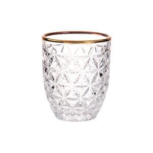 BUTLERS AURELIE Glas mit Goldrand, transparent, Ø 8.2 cm. Höhe 9.5 cm