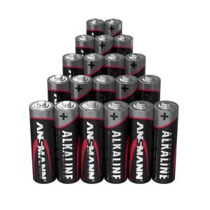 Alkaline Batterie Sparpacks 20er zum Sonderpreis - AA und AAA erhältlich! Ansmann