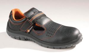 Sicherheits Sandalen S1P, mit Kunststoffkappe, Farbe schwarz, in verschiedenen Größen
