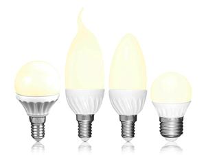 LED Leuchtmittel 3 Watt in Kerzen-, Windstoß oder Tropfenform Müller Licht