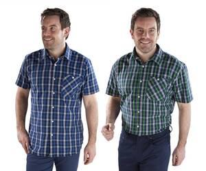 Freizeithemd mit Kurzarm, farblich sortiert, in verschiedenen Größen