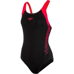 """Speedo Badeanzug """"Boom Splice Muscleback"""", für Damen, schwarz/rot, 38"""