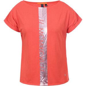 ICEPEAK T-Shirt, überschnittene Schulter, Metallic-Print, für Damen, rot, S