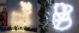 LED Neon Lichtschlauch Figur mit warmweißen LEDs für den Innen- und Außenbereich Star-Max