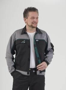 Blousonjacke, Farbe schwarz/grau/grün