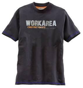 T-Shirt für Beruf und Hobby, schwarz mit Kontrastnähten TERRAX WORKWEAR