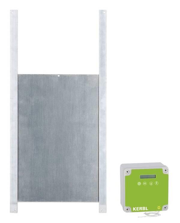 Automatische Hühnertür inklusive Schiebetür 30 x 40 cm Kerbl