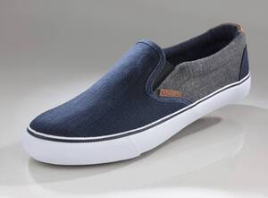Canvas Slipper jeansblau