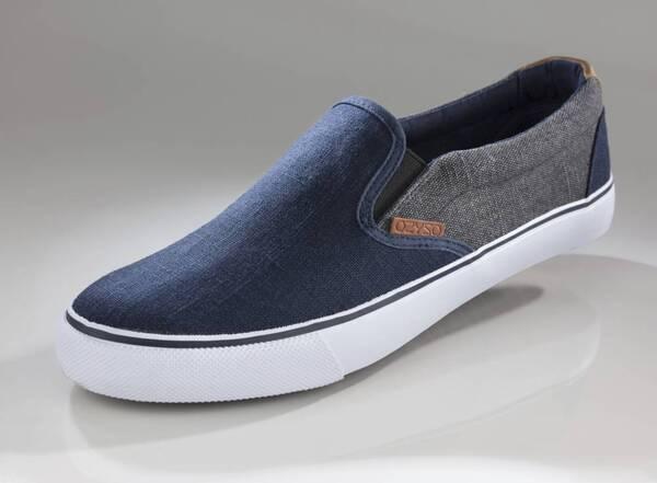 Canvas Slipper jeansblau