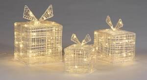 Leuchtende Geschenkboxen 3 Stück in verschiedenen Größen