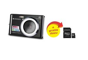 Digitalkamera 21 Megapixel, 8fach digitaler Zoom, DC5200 + GRATIS dazu: 16 GB micro SD Speicherkarte mit SD Kartenadapte AGFAPHOTO