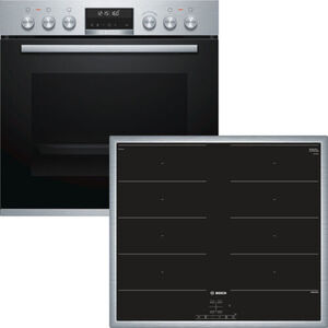 Bosch HND679OS60 Induktions-Einbauherd-Set, A