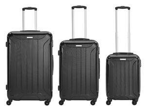 Travelfirst Reisekoffer 3er Koffer-Set Reisetrolley, Schwarz, M/L/XL, schwarz