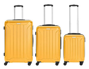 Travelfirst Reisekoffer 3er Koffer-Set Reisetrolley, Orange, M/L/XL, orange