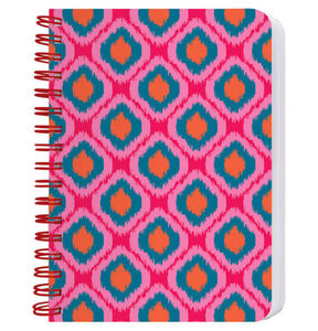 Cedon Ringbuch A6 Muster Ikat orange, orange rot