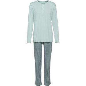 Schiesser Damen Jersey-Schlafanzug, hellmint, 40, 40