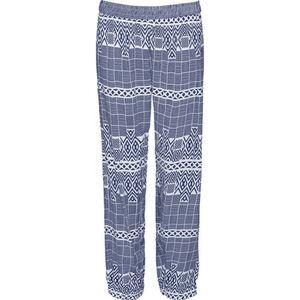 Peckott Damen Hose mit Bündchen, blau, 46, 46