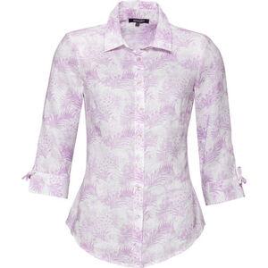 Adagio Damen Leinenbluse, floral gemustert, rosa, 42, 42