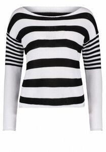 Public Strickpullover, Weiß/Dunkelblau - Weiß, XL, weiß/dunkelblau weiß, XL