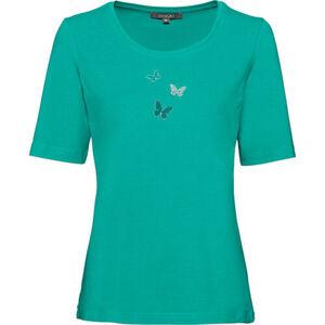 Adagio Damen Shirt mit Schmetterlingen, smaragd, 42, 42