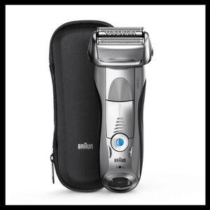 Braun Rasierer Series 7 - 7893s Wet&Dry, silber + gratis Scherteil Vorteilspack,
