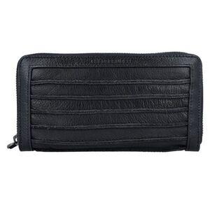 FREDSBRUDER Riffel Big Geldbörse Leder 19 cm, black, 99