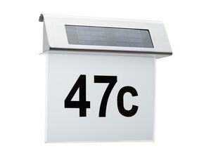 Paulmann LED Outdoor Solar Hausnummernleuchte, weiß