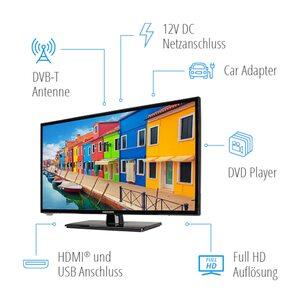 """MEDION LIFE® E12433, 59,9 cm (23,6"""") LCD-TV, Full HD, HD Triple Tuner, integrierter DVD-Player, integrierter MediaplayerCI+"""