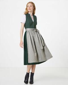 Hallhuber Jacquard-Dirndl mit Baumwollbluse für Damen in dunkelgrün