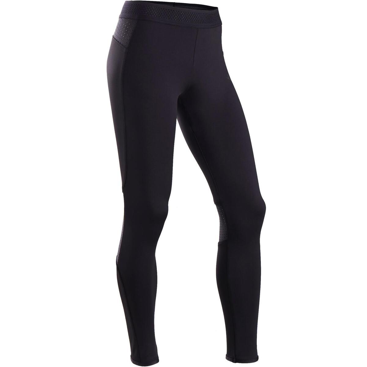 Bild 1 von Leggings warm atmungsaktiv S900 Gym Kinder schwarz, Innenseite grau