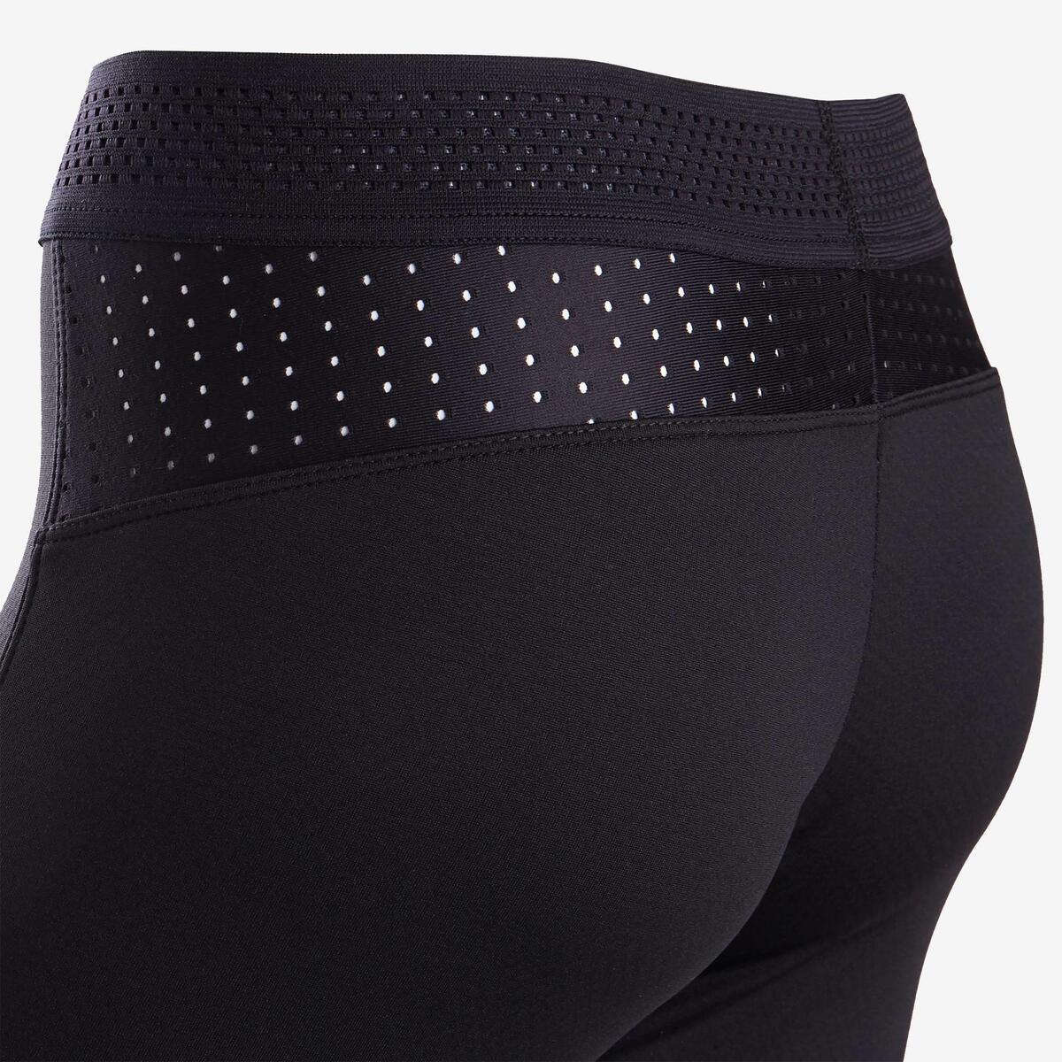 Bild 4 von Leggings warm atmungsaktiv S900 Gym Kinder schwarz, Innenseite grau