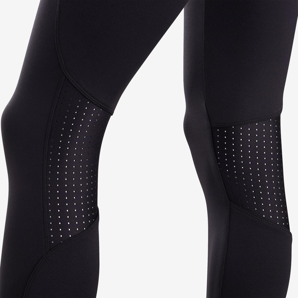 Bild 5 von Leggings warm atmungsaktiv S900 Gym Kinder schwarz, Innenseite grau