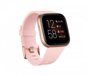 fitbit Smartwatch, Versa 2 (NFC), crème/kupferrosé ,  integrierte Sprachsteuerung
